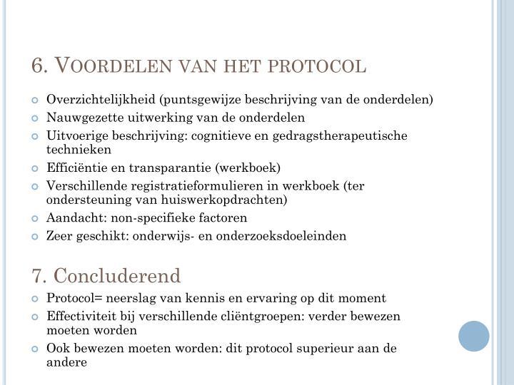 6. Voordelen van het protocol