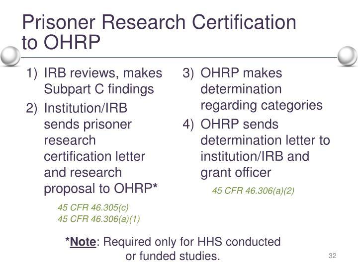 Prisoner Research