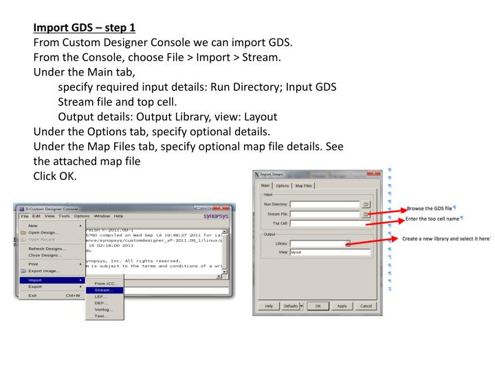 Import GDS – step 1