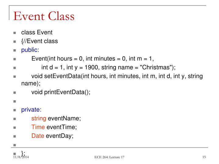 Event Class