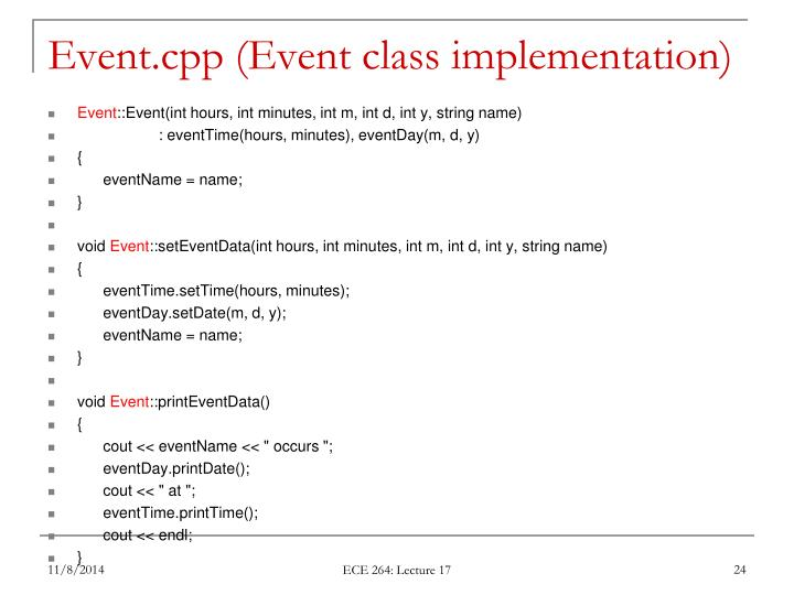 Event.cpp (Event class implementation)