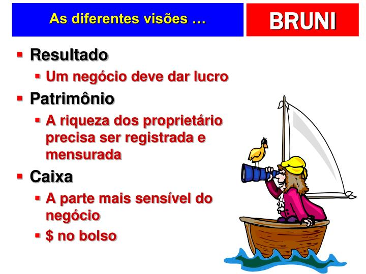 As diferentes visões …