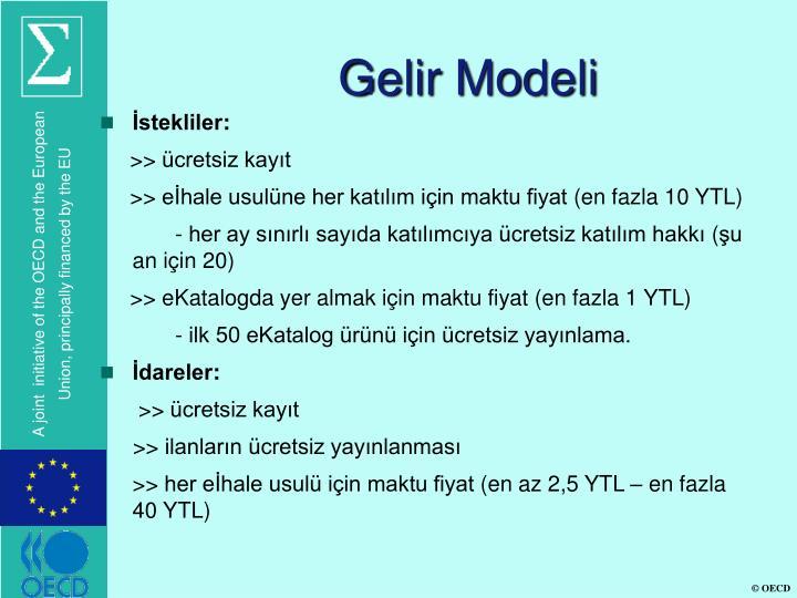 Gelir Modeli