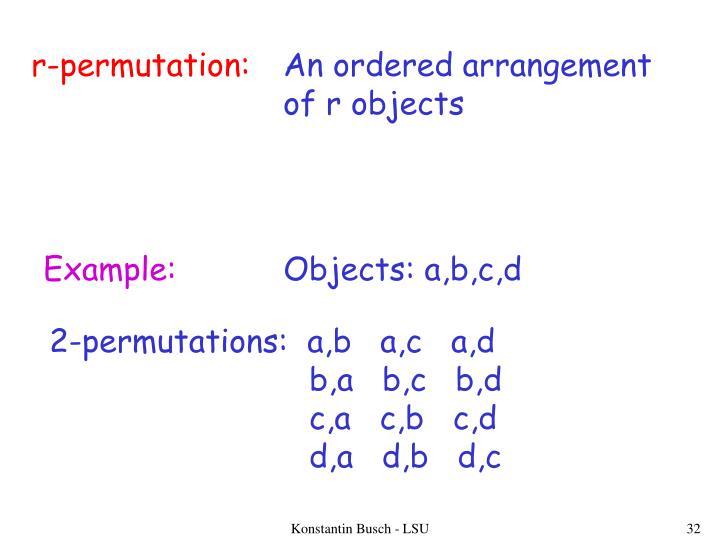 r-permutation: