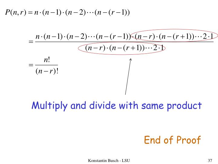 Multiply and divide with same product