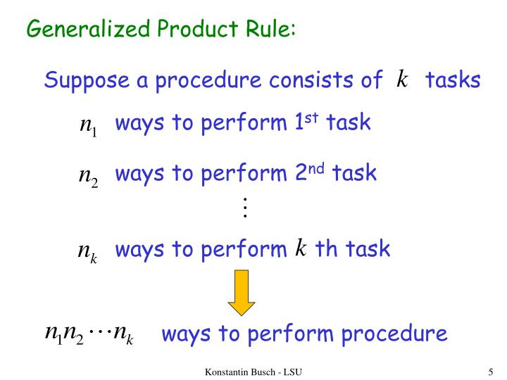 Generalized Product Rule:
