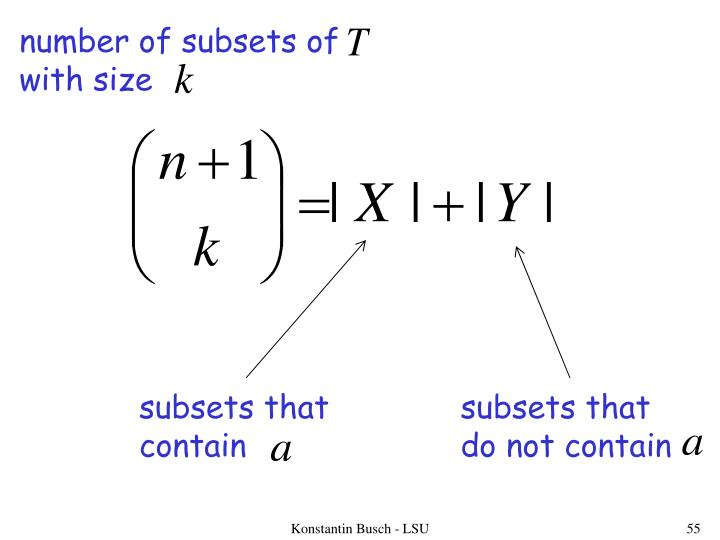 number of subsets of