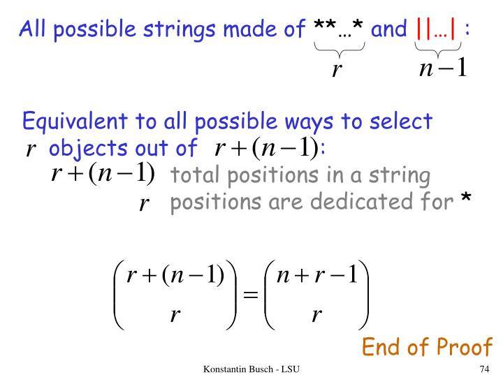 All possible strings made of