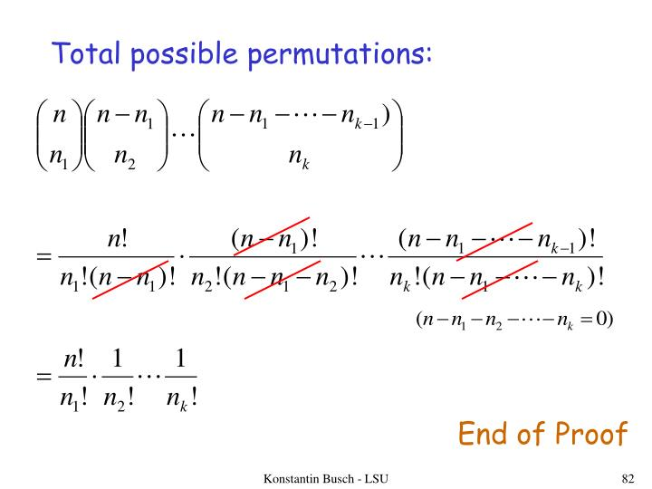 Total possible permutations: