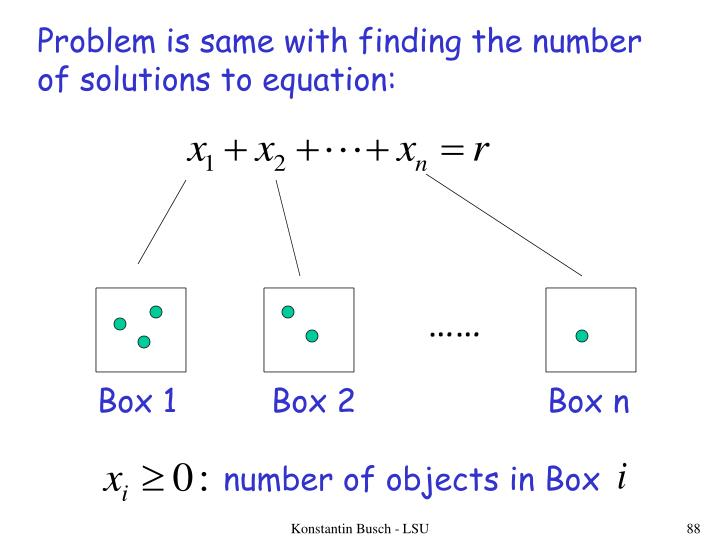 Problem is same with finding the number