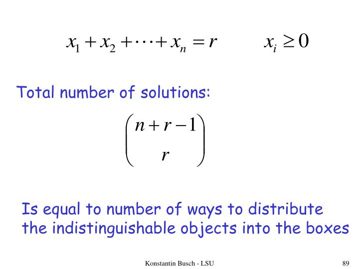 Total number of solutions: