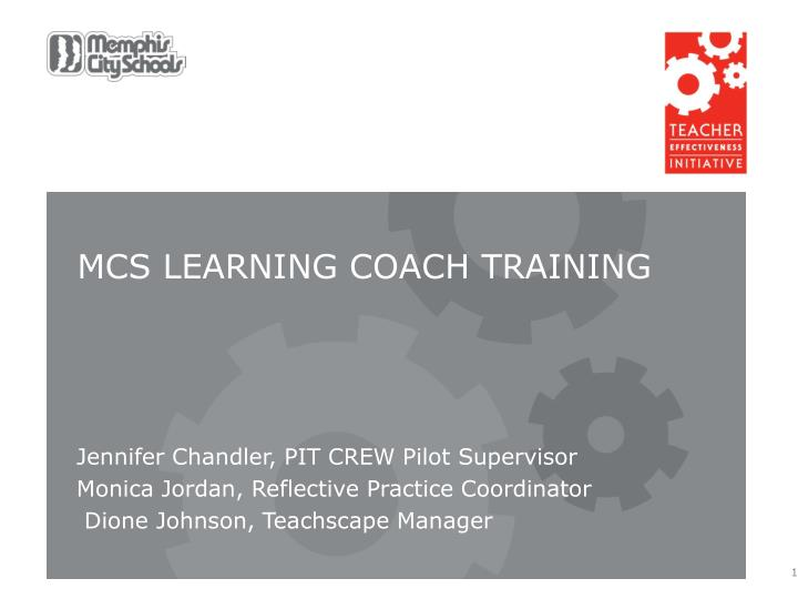 MCS Learning Coach training