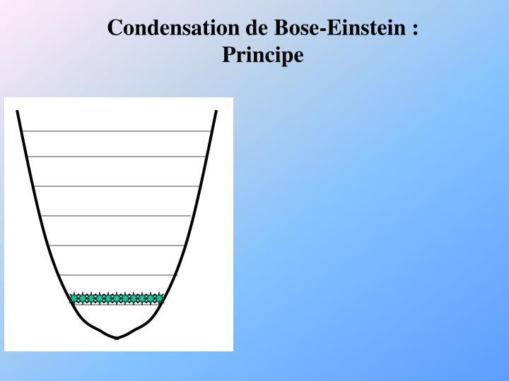 Condensation de Bose-Einstein :