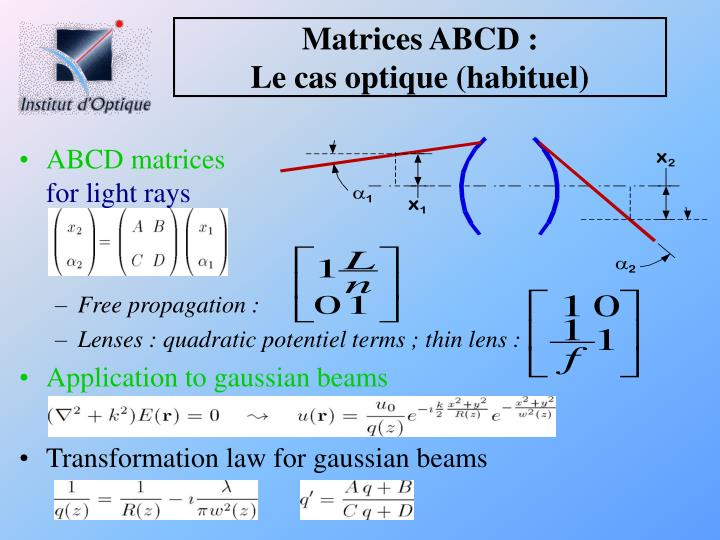 Matrices ABCD :