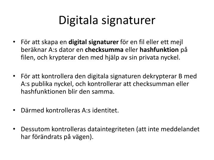 Digitala signaturer