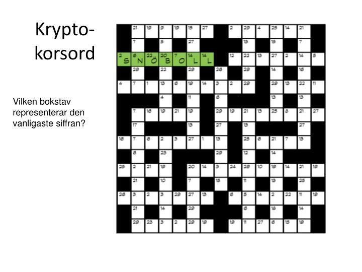 Krypto-korsord