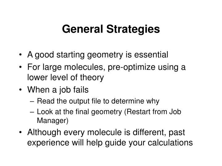 General Strategies