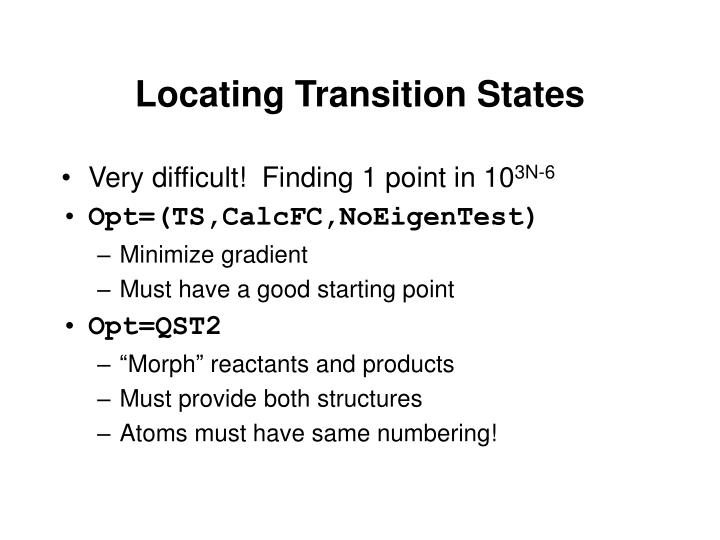 Locating Transition States