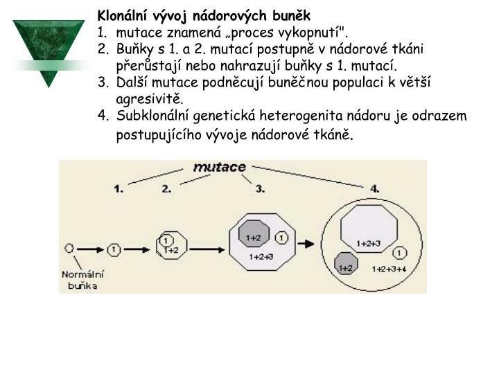 Klonální vývoj nádorových buněk