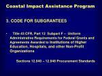 coastal impact assistance program5