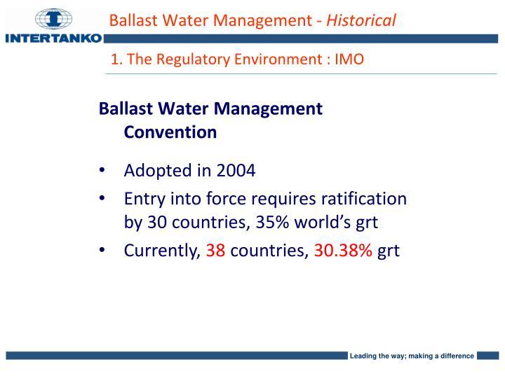 Ballast Water Management -