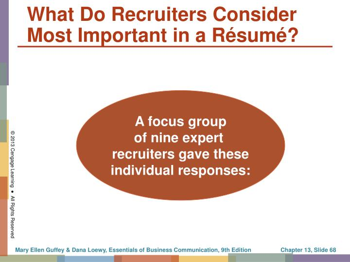 What Do Recruiters Consider Most Important in a Résumé?