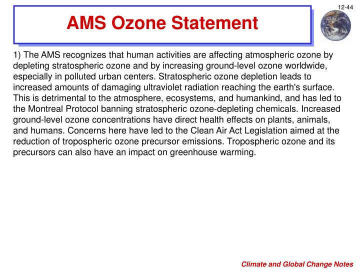 AMS Ozone Statement