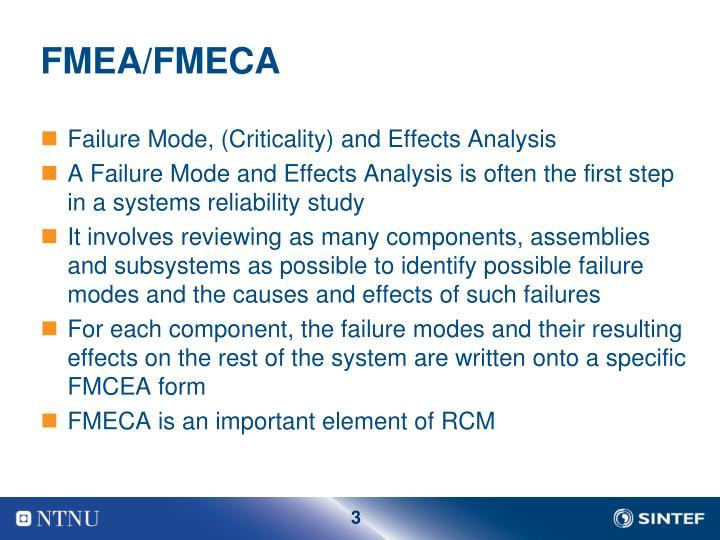 FMEA/FMECA