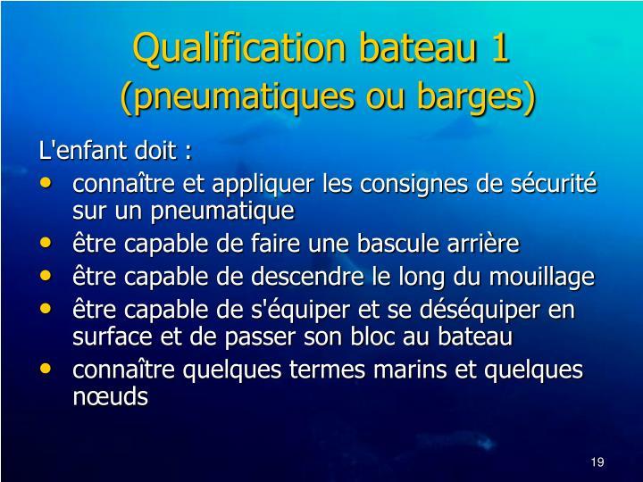 Qualification bateau 1
