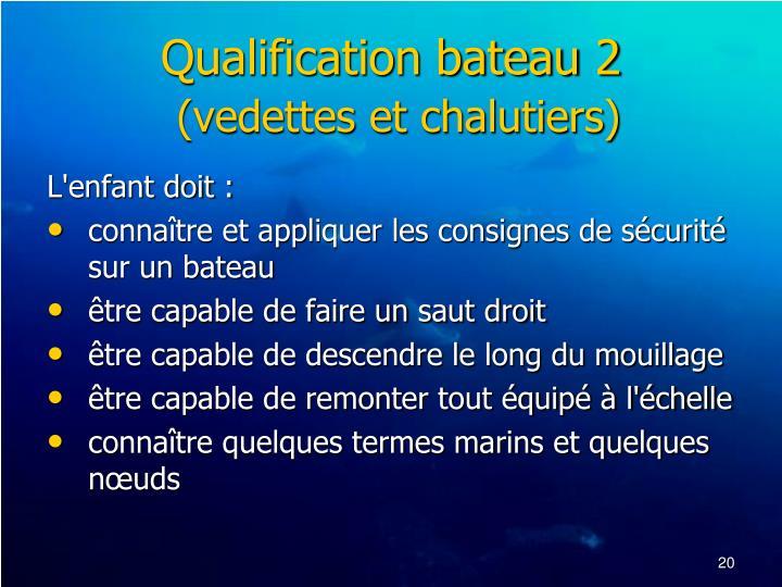 Qualification bateau 2