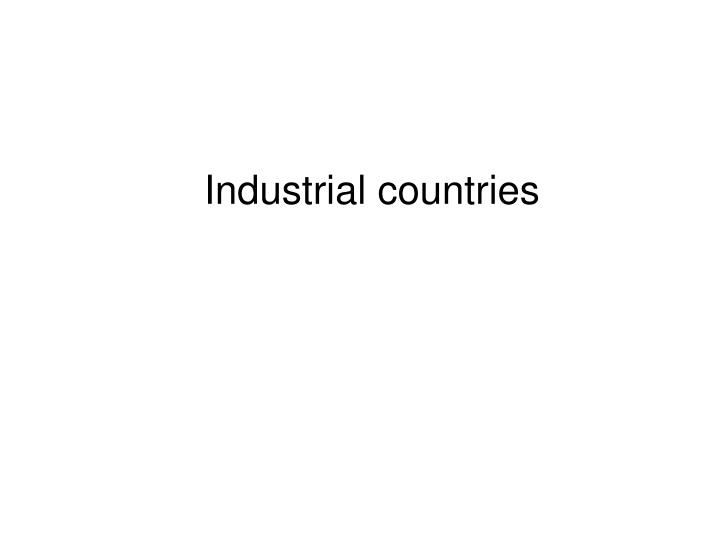 Industrial countries