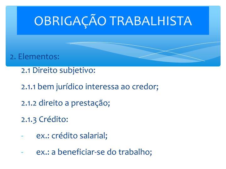 OBRIGAÇÃO TRABALHISTA