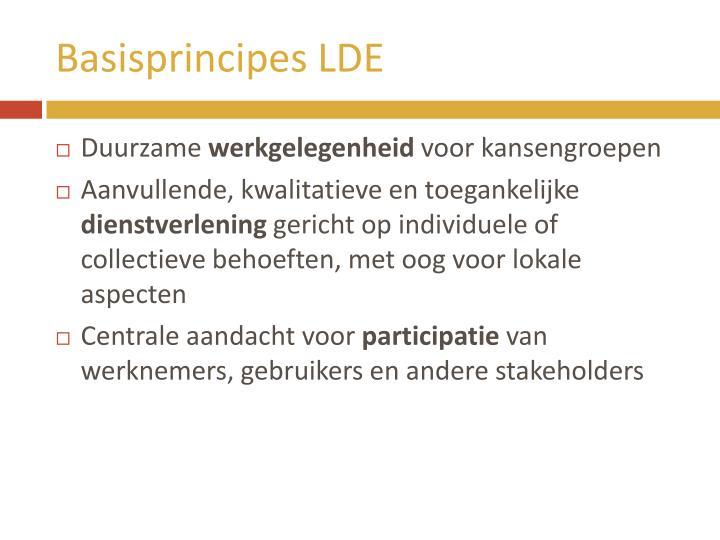 Basisprincipes LDE