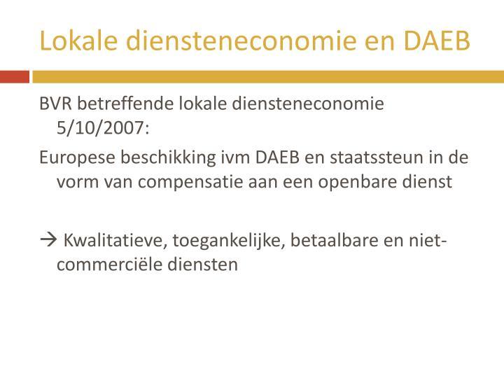 Lokale diensteneconomie en DAEB
