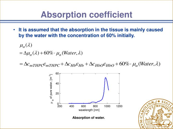 Absorption of water.