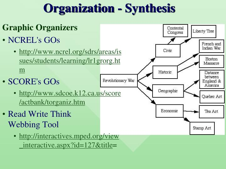 Organization - Synthesis