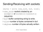 sending receiving with sockets3