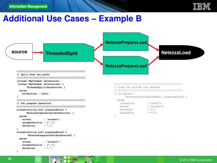 Additional Use Cases – Example B