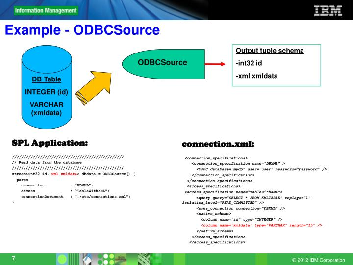 Example - ODBCSource