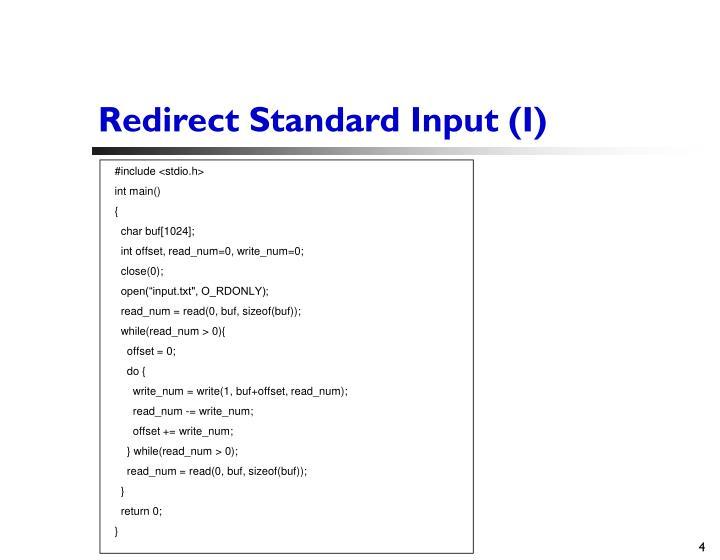 Redirect Standard Input (I)
