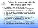 caisse de r sonance et table d harmonie et chevalet