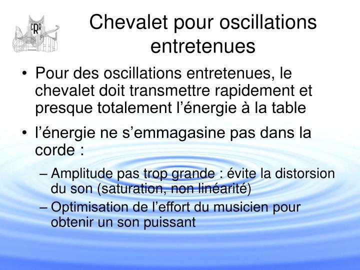 Chevalet pour oscillations entretenues