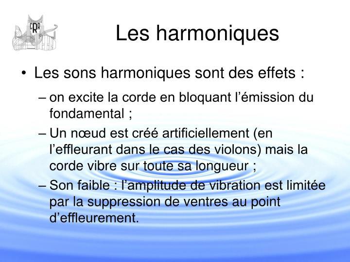 Les harmoniques