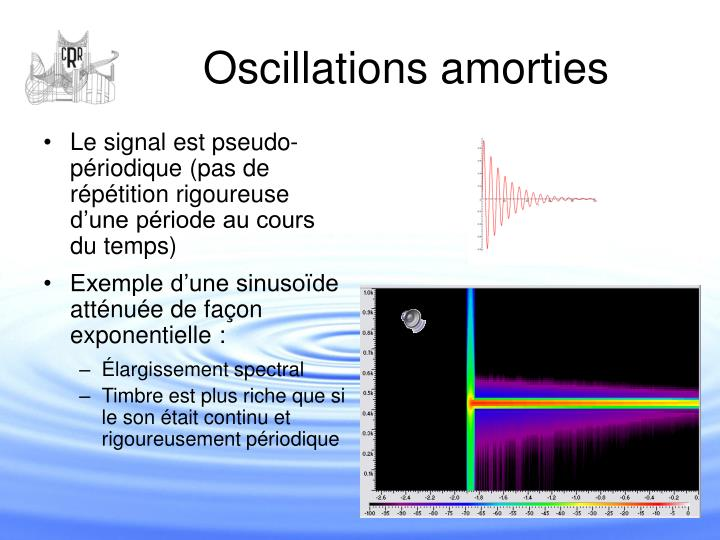 Oscillations amorties