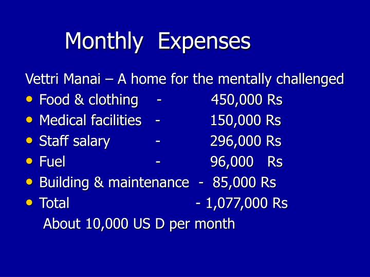 Monthly  Expenses