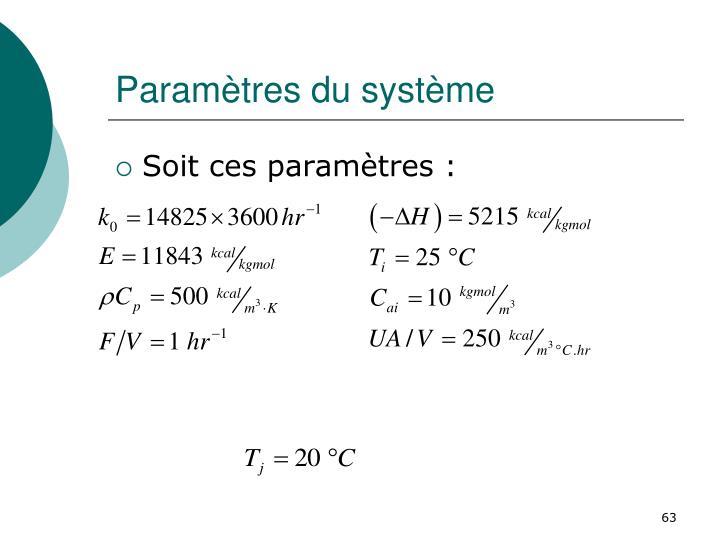 Paramètres du système