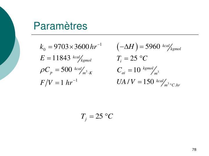 Paramètres