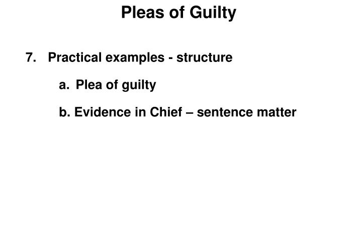 Pleas of Guilty