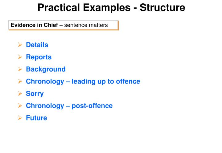 Practical Examples - Structure