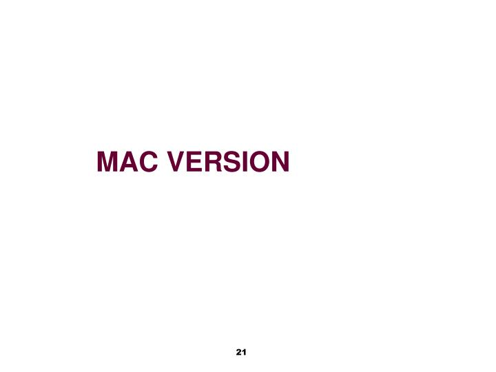 Mac version